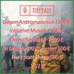 Tolerade 2019 – Spenden