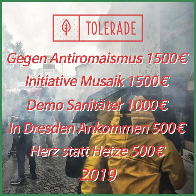 Tolerade 2019 - Spenden